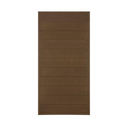 Winfloor Płot kompozytowy 86.5x173 cm brązowy wpc (5908443048328)