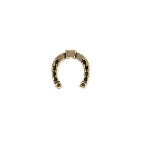 Jubileo.pl Figurka złota podkowa amulet talizmany kolor stare złoto podkowa dla miłośników koni