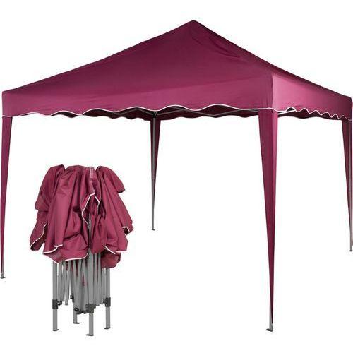 Ekspresowy pawilon namiot ogrodowy handlowy 3x3m - czerwony (odcień bordowy) marki Mks