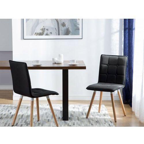 Beliani Zestaw do jadalni 2 krzesła czarne brooklyn