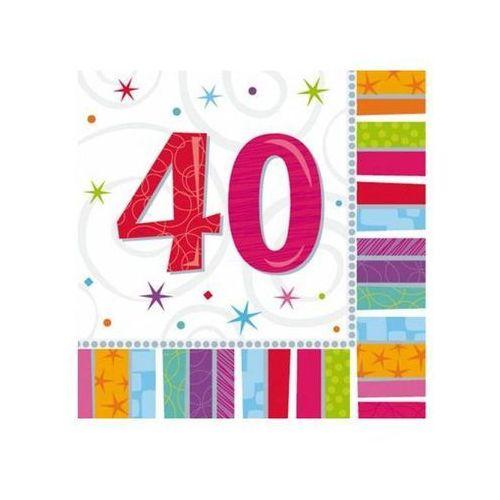 Amscan Serwetki urodzinowe na czterdzieste urodziny - 40tka - 33 x 33 cm - 16 szt. (0048419712497)