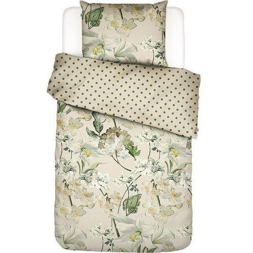 Essenza Pościel rosalee 135 x 200 cm kremowa z poszewką na poduszkę 80 x 80 cm