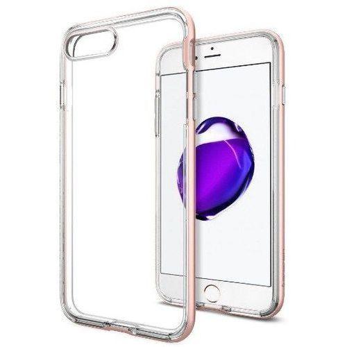Zestaw | Spigen SGP Neo Hybrid Crystal Rose Gold | Obudowa + Szkło ochronne Perfect Glass dla modelu Apple iPhone 7 Plus