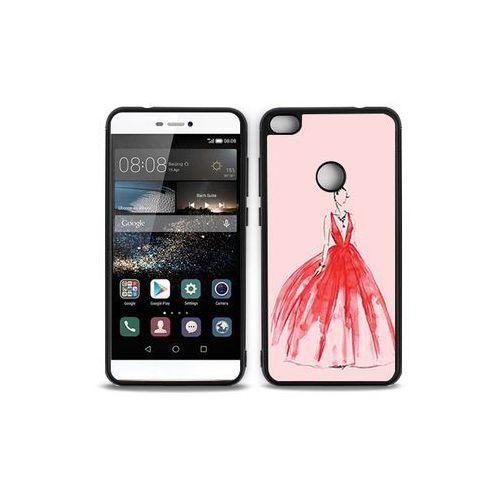 Huawei P9 Lite (2017) - etui na telefon Aluminum Fantastic - czerwona suknia, kolor czerwony
