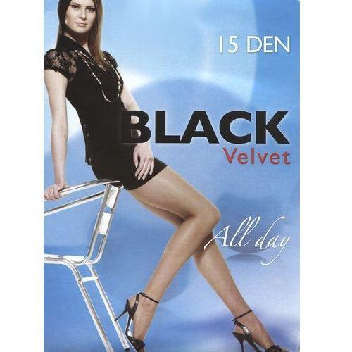 """Rajstopy black velvet 15 den """"24h"""" 2-s, szary/antracite. egeo, 2-s, 4-l marki Egeo"""