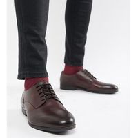 wide fit axminster formal shoes in wine leather - red marki H by hudson