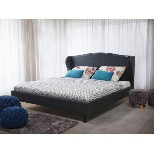 Beliani Łóżko szare - 160x200 cm - łóżko tapicerowane - stelaż - colmar