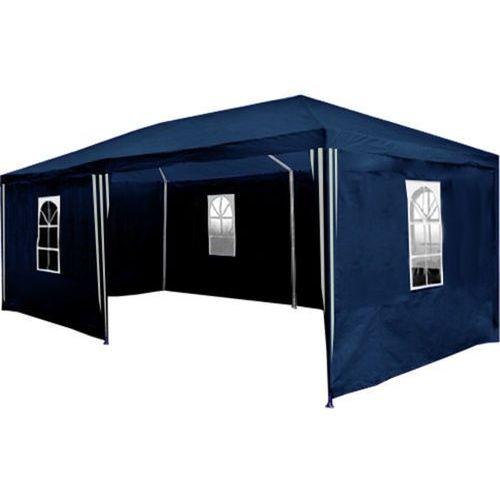 Pawilon ogrodowy 3x6 + 6 ścian namiot handlowy - niebieski marki Makstor.pl