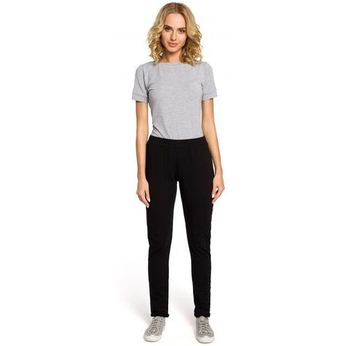 Moe Dzianinowe spodnie dresowe 055 czarne