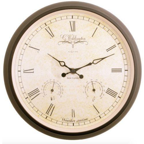 Nextime :: zegar ścienny aaltje weather station Ø 25cm czarny