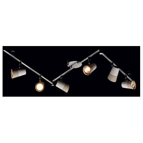 6-kierunkowy reflektor sufitowy w kolorach białym i beżowym w nowoczesnym stylu (542020706) marki Demarkt