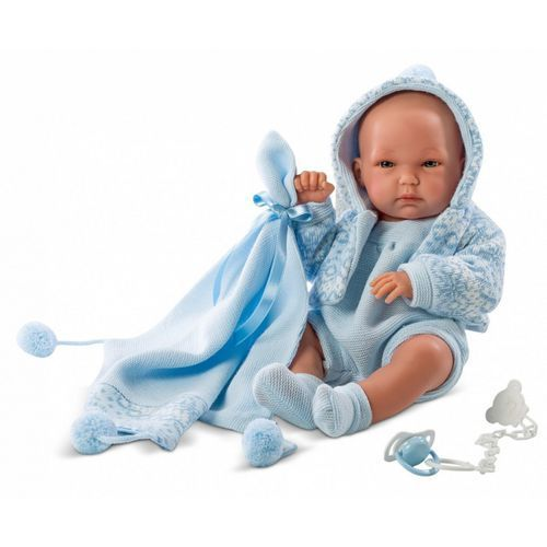 Lalka Pipo w niebieskiej sukience 35 cm (8426265635399)