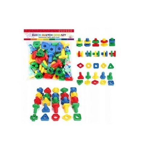 Askato Klocki małych geniuszy - figury ze śrubkami 50el.