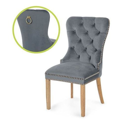 krzesło MADAME II GOLD szary/dąb/ TR15, kolor szary