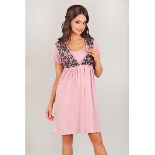 Lupoline Koszula nocna model 3006 pink/black