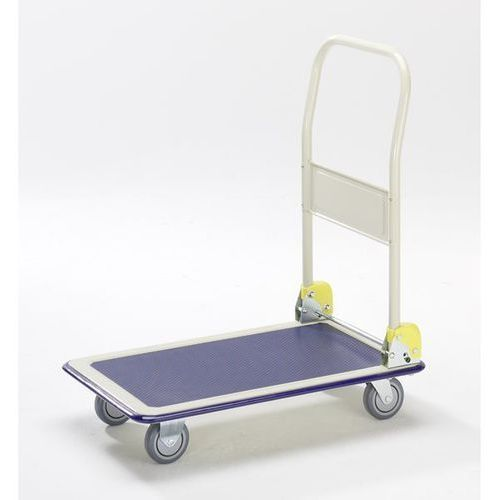 Wózek platformowy max, pałąk do przesuwania, składany, nośność 300 kg. kółka na marki Seco