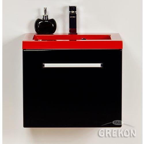 Szafka wisząca kolor czarny z umywalką 50/39cz seria fokus c marki Gante