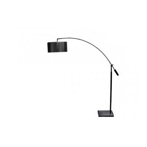 Azzardo bianca ts 061121f lampa stojąca podłogowa 1x60w e27 czarna / chrom