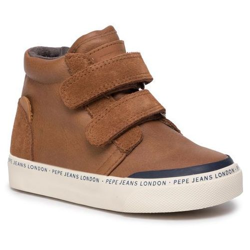 Sneakersy - traveler bootie kids pbs30410 tobacco 859 marki Pepe jeans