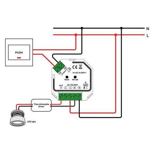 SLC SmartOne AC ściemniacz Mini 200W Zigbee LN