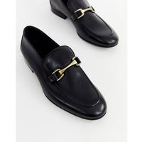 River Island snaffle loafers in black - Black