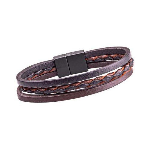 Skórzana bransoletka magnetyczna W-TEC Ballure, 22 cm (8596084086969)