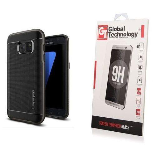 Zestaw | Etui Spigen Neo Hybrid Carbon Black Gunmetal + Szkło ochronne Perfect Glass dla modelu Samsung Galaxy S7