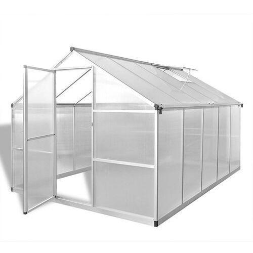 Vidaxl szklarnia z aluminiową, wzmacnianą ramą i podstawą 7,55 m2 (8718475906001)