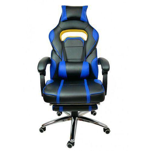 FOTEL obrotowy Biurowy do komputera DEUS BOSS BLUE