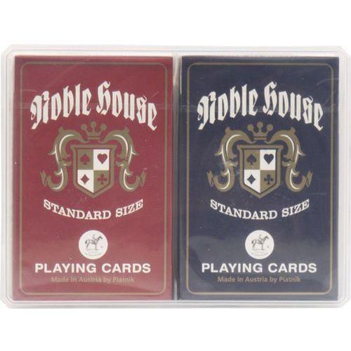 Karty noble house  2 talie w plastikowym pudełku marki Piatnik