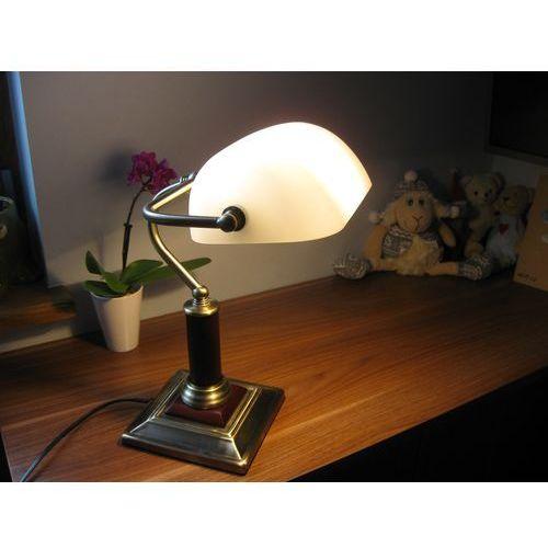 Brilliant Lampa stołowa bankir 92679/31, e27, 1 x 60 w, 230 v, (sxw) 26 cm x 33.5 cm, mosiądz antyczny (4004353086199)