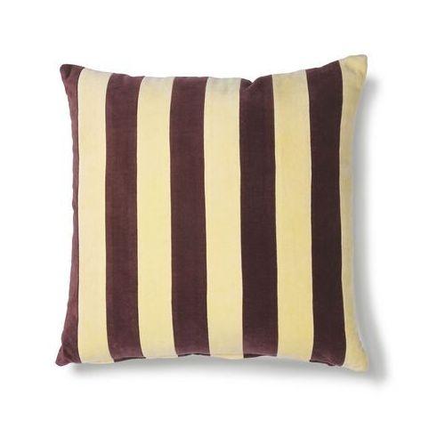 poduszka velvet w paski żółty/fioletowy (50x50) tku2078 marki Hk living