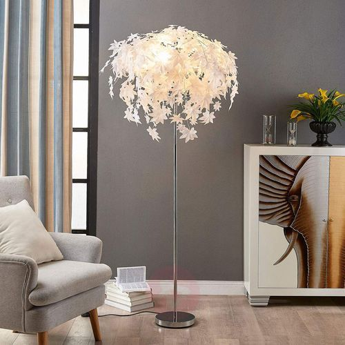 Lampa stojąca maple z dekoracją w listki marki Lampenwelt.com