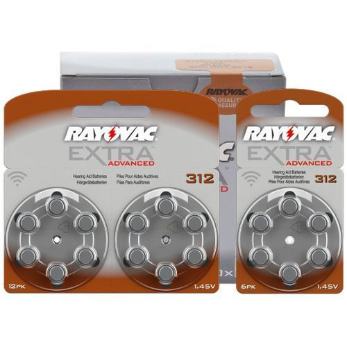 Rayovac 120 x baterie do aparatów słuchowych extra advanced 312 mf