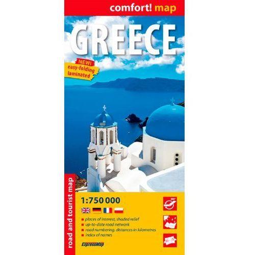 Grecja laminowana mapa samochodowo- turystyczna 1:750 000, pozycja z kategorii Mapy i atlasy