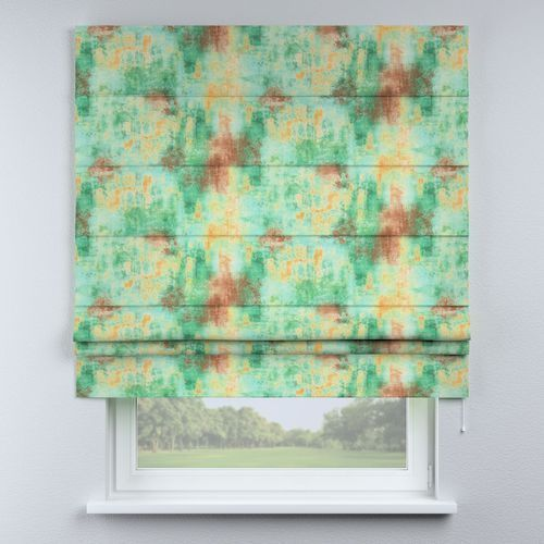 Dekoria roleta rzymska padva, zielony, żółty, brązowy, szer.160 × dł.170 cm, urban jungle