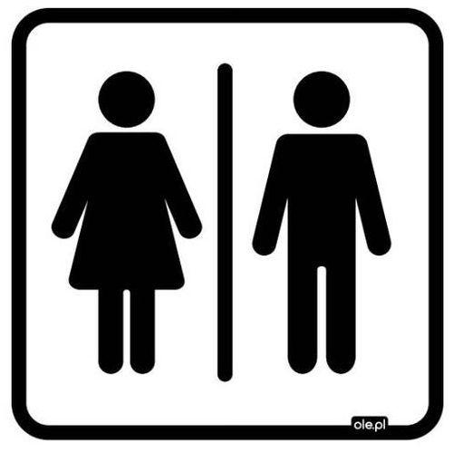Ole.pl Naklejka informacyjna oznaczenie toalety wc damsko-męskie