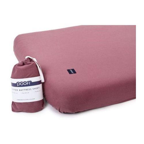 Poofi Prześcieradło do łóżeczka organic & color - bordowy - 60x120 cm -
