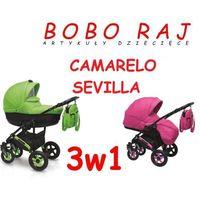 WÓZEK GŁĘBOKO-SPACEROWY FIRMY CAMARELO MODEL SEVILLA+FOTELIK PEBBLE 0-13 KG