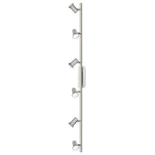 Listwa Eglo Rottelo 90927 lampa sufitowa plafon spot 6x3W GU10 satyna/chrom, kolor nikiel