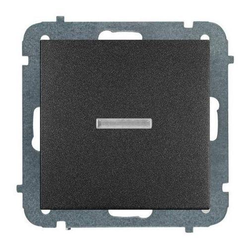 Elektro-plast Łącznik pojedynczy sentia z podświetleniem moduł bez ramki czarny