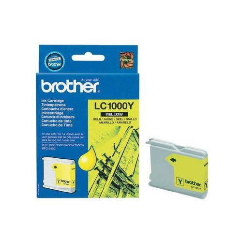 Brother oryginalny ink lc-1000y, yellow, 400s, brother dcp-330c, 540cn, 130c, mfc-240c, 440cn (4977766643962)