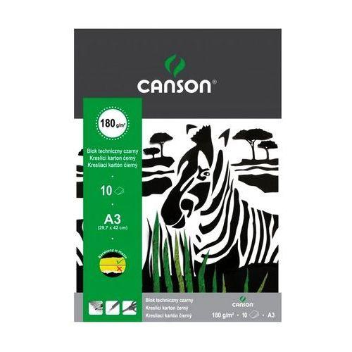Blok techniczny a3 czarny 10 arkuszy 180g/m2 marki Canson