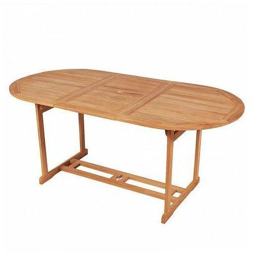Stół ogrodowy crayon 2x - lite drewno tekowe marki Elior