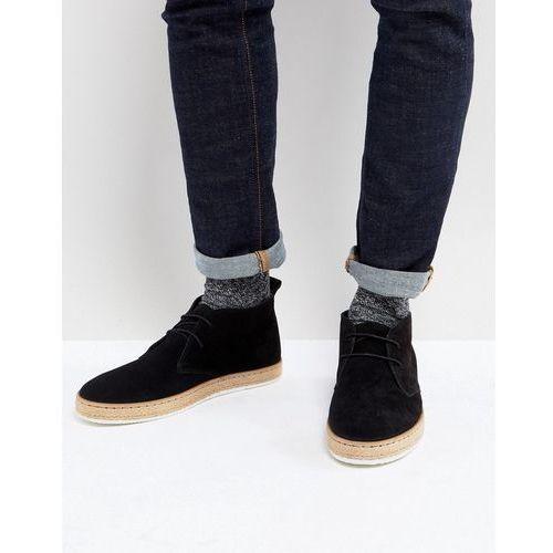 desert boots with espadrille sole black - black, Dune