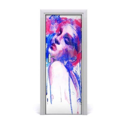 Naklejka samoprzylepna na drzwi Abstrakcja kobieta