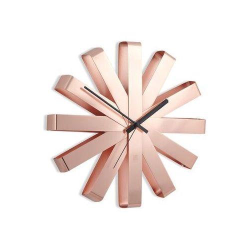 Umbra - zegar ścienny ribbon - miedziany - miedziany