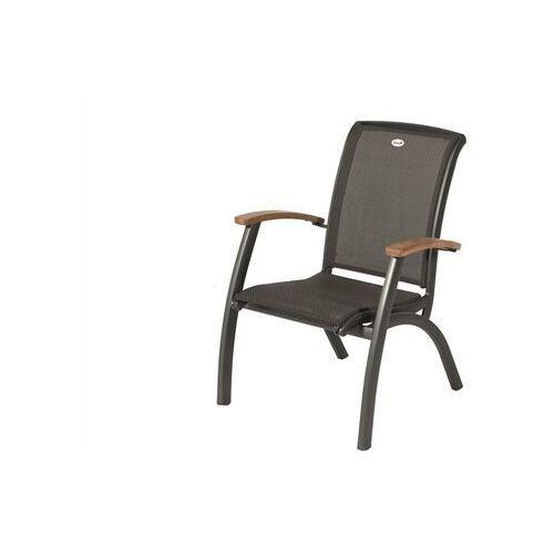Hartman Krzesło ogrodowe w kolorze xerix/black grey | da vinci dining with | podłokietniki z drewna tekowego