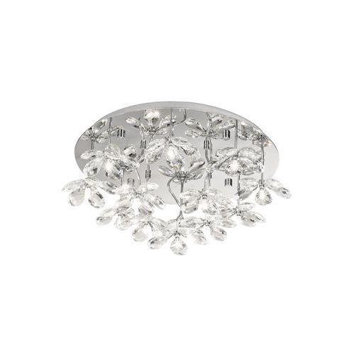 Eglo Plafon pontedo 93081 lampa oprawa sufitowa 13x10w g4 chrom/kryształ