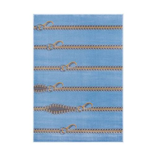 Dywan młodzieżowy sliders niebieski 133 x 190 cm marki Agnella